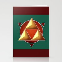 triforce Stationery Cards featuring Triforce by lythy