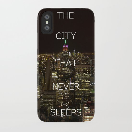 New York, New York. iPhone Case