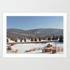 Winter Snow Scene Landscape Photo Art Print