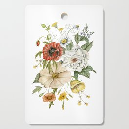 Wildflower Bouquet on White Cutting Board
