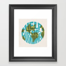 Help The Environment Framed Art Print