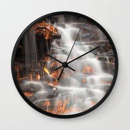 Shades of Death Waterfall Wall Clock