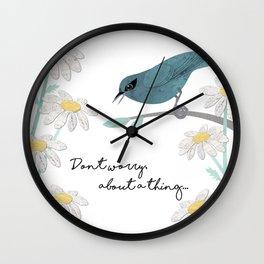 Three Little Birds, Part 1 Wall Clock