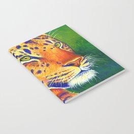 Colorful Leopard Big Cat Wild Cat Notebook