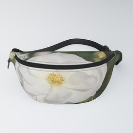 White Flowers and Buds by Reay of Light Photography Fanny Pack