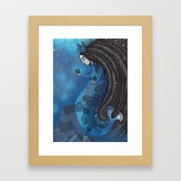The Seal Woman Framed Art Print