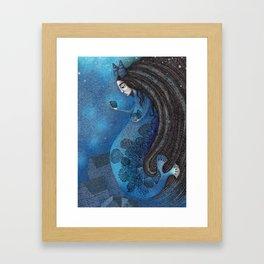 The Seal Woman Framed Art Print