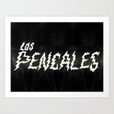 LOS PENCALES Art Print