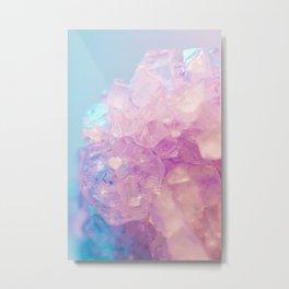 Purple Quartz Crystal Metal Print