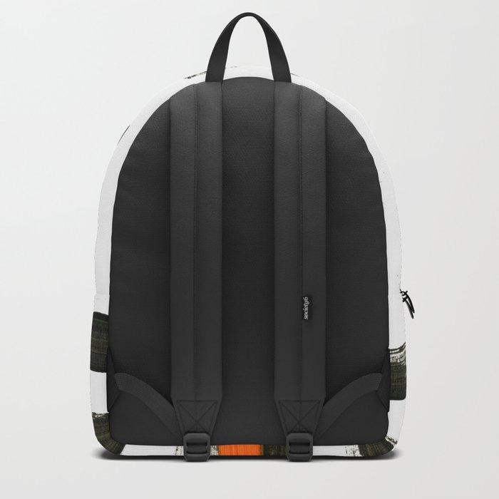 orange stripes Backpack