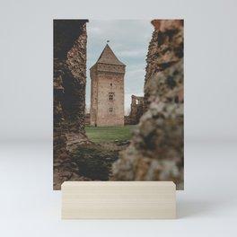 Old castle tower Mini Art Print