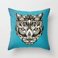 leopard Throw Pillows featuring Leopard by Andreas Preis