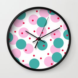 Colour Dots 03 Wall Clock
