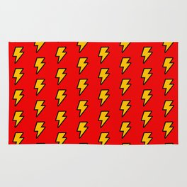 Cartoon Lightning Bolt pattern Rug