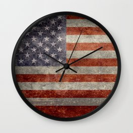 USA Stars and Stripes Banner - Imagine this as the focal point at your next banquette! Wall Clock