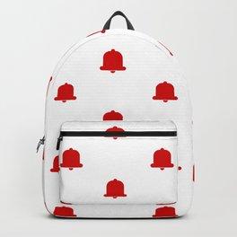 Bells Pattern White Background Backpack