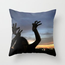 monster shadow twighlight Throw Pillow