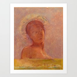 "Odilon Redon ""Closed Eyes"" Art Print"