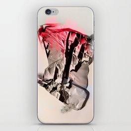 neon hands up iPhone Skin