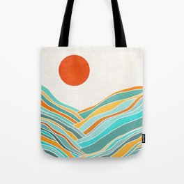 Abstract Sunset Landscape II Tote Bag