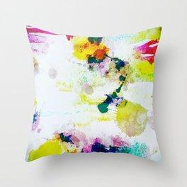 Abstract Paint Splatter Art Throw Pillow