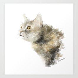 A cat in hunting mode Art Print