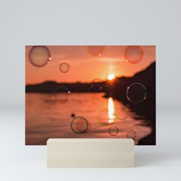 Bubbles at Sunset Mini Art Print