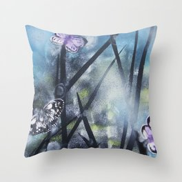 westhay butterfly 3 Throw Pillow
