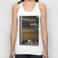 english bulldog Tank Tops featuring English Bulldog by sovichka
