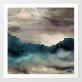 Early Morning Clouds Consume the Mountains Art Print