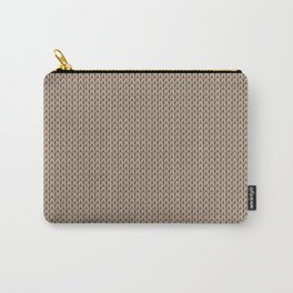 Knitted spring colors - Pantone Hazelnut Carry-All Pouch