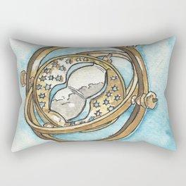 Time Turner Watercolor Painting Rectangular Pillow