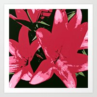 Abstract Hot Floral Art Print
