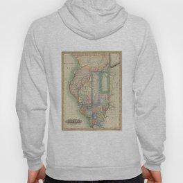 Vintage Map of Illinois (1823) Hoody
