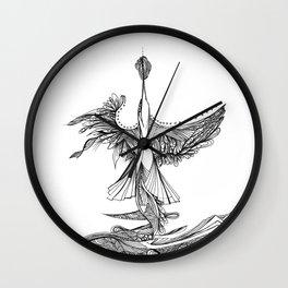 Diving bird Wall Clock