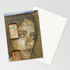 the girl on curtain road Stationery Cards