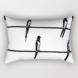 Birds On Wires Planning The ETD Rectangular Pillow