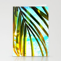palm tree Stationery Cards featuring Palm by Stephanie Stonato