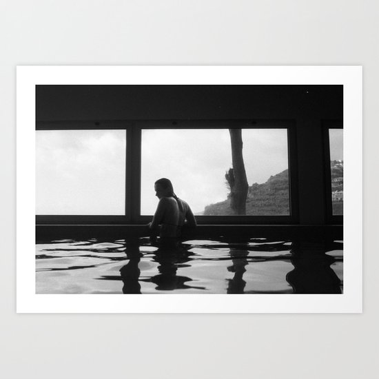 in the pool Art Print