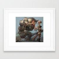 steampunk Framed Art Prints featuring steampunk by Joël Jurion