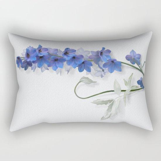Consolida, watercolors Rectangular Pillow