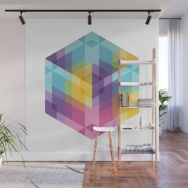 Fig. 024 Hexagon shapes Wall Mural
