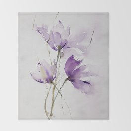 wilted tulips Throw Blanket