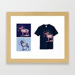 RAM TEE TEAL Framed Art Print