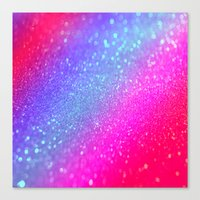glitter Canvas Prints featuring glitter by haroulita