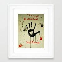 skyrim Framed Art Prints featuring Skyrim: The Dark Brotherhood by Emowolf145