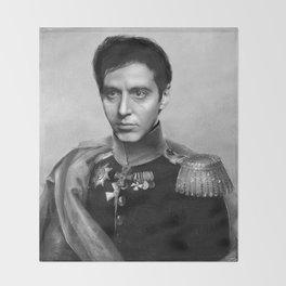 Al Pacino Scar Face General Portrait Painting | Fan Art Throw Blanket