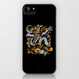 Monkey Space Skateboarder Gift Idea Design Motif iPhone Case