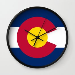Colorado flag - High Quality image Wall Clock