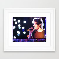 zayn malik Framed Art Prints featuring Zayn Malik by Brittny May
